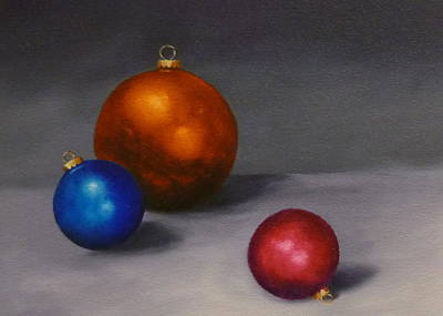 Painting - Christmas Glow Greeting Card  by Jo Appleby