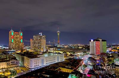 Photograph - Christmas In San Antonio by Cathy Alba
