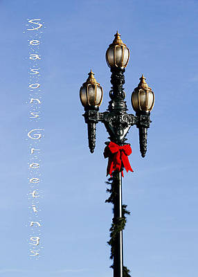 Photograph - Christmas Lamp Post 2013 by Deb Buchanan