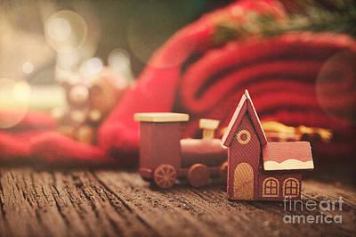 Christmas Rustic Decoration Art Print by Mythja  Photography