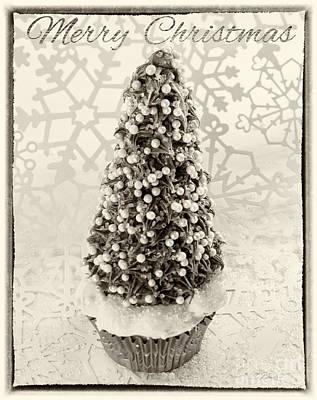 Christmastree Cupcake Art Print by Iris Richardson