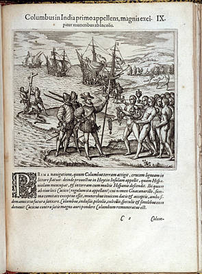 Christopher Columbus Art Print by British Library