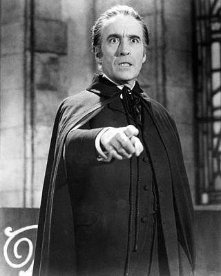Dracula Photograph - Christopher Lee In Dracula: Prince Of Darkness  by Silver Screen