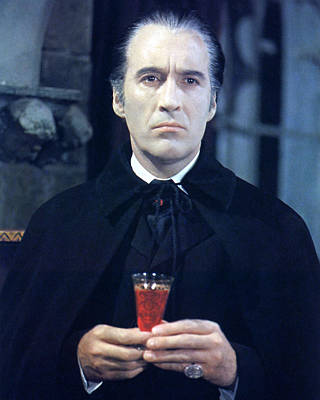 Dracula Photograph - Christopher Lee In Taste The Blood Of Dracula  by Silver Screen