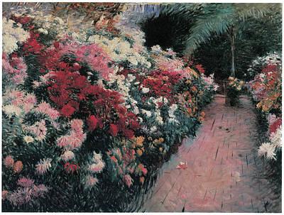 Dennis Miller Wall Art - Painting - Chrysanthemums by Dennis Miller Bunker