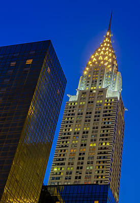 Chrysler Photograph - Chrysler Building Twilight by Susan Candelario