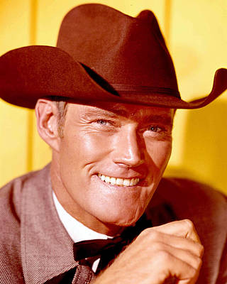 Chuck Connors Art Print by Silver Screen