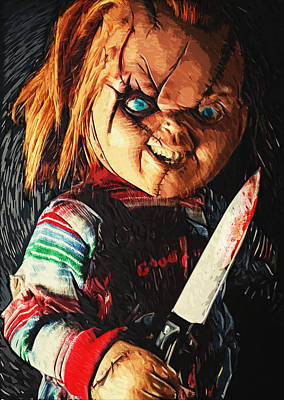 Digital Art - Chucky by Taylan Apukovska