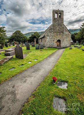 Graveyard Digital Art - Church Of St Mary by Adrian Evans