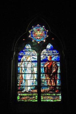 Photograph - Church Of The Covenant Stained Glass 11 by Michael Saunders