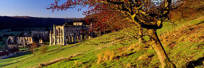 Ancient Civilization Photograph - Church On A Landscape, Rievaulx Abbey by Panoramic Images