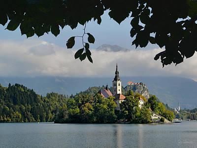 Photograph - Church On Lake Bled Island No. 2 by Joe Bonita