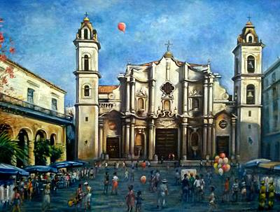 Painting - Church Square Havana by Philip Corley