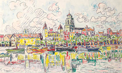 City Scenes Drawing - Ciboure by Paul Signac