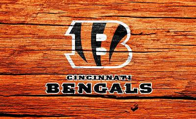 Champion Mixed Media - Cincinnati Bengals Barn Door by Dan Sproul