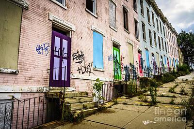 Cincinnati Glencoe-auburn Row Houses Picture Art Print by Paul Velgos