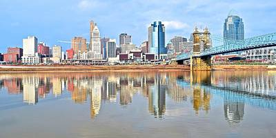 Cincinnati Reflects Art Print by Frozen in Time Fine Art Photography