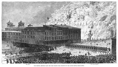 Cincinnati Riot, 1884 Art Print by Granger