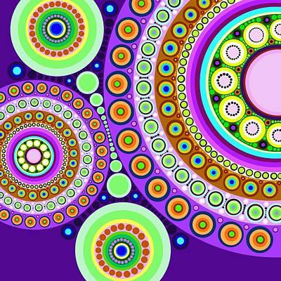 Tribal Art Painting - Circle Motif 120 by John F Metcalf