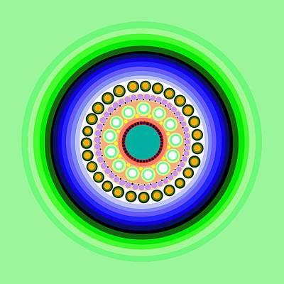 Tribal Art Painting - Circle Motif 126 by John F Metcalf