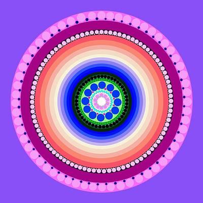Tribal Art Painting - Circle Motif 224 by John F Metcalf