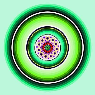 Circle Motif 229 Print by John F Metcalf