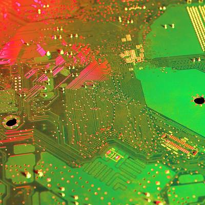 Circuit Photograph - Circuit Board by Science Photo Library