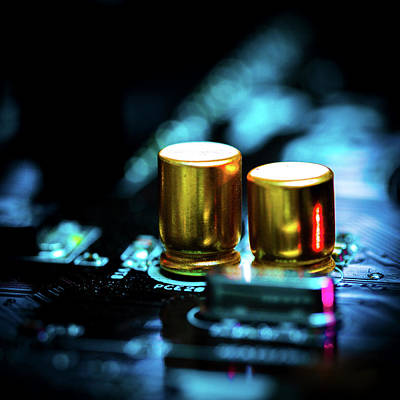 Circuit Board Photograph - Circuit Board by Wladimir Bulgar