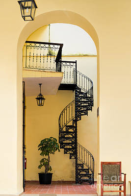 Photograph - Circular Staircase by Les Palenik