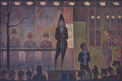 Georges Seurat Painting - Circus Sideshow by Georges Seurat