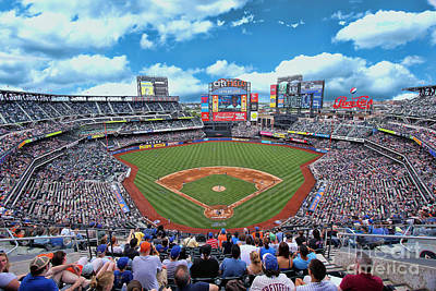 Photograph - Citi Field 2 - Home Of The N Y Mets by Allen Beatty