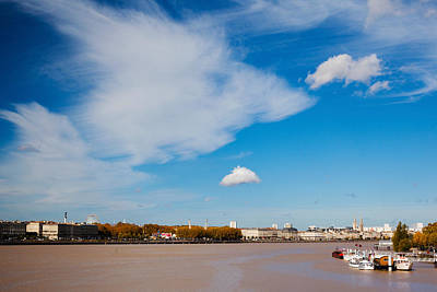 Aquitaine Photograph - City At The Waterfront, Garonne River by Panoramic Images
