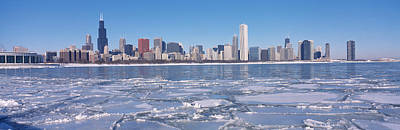 Cold Temperature Photograph - City At The Waterfront, Lake Michigan by Panoramic Images