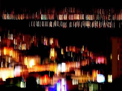 City Lights Art Print by Mamie Gunning