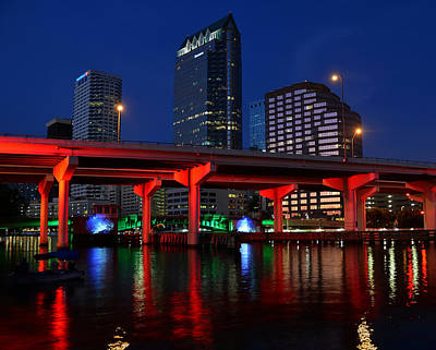 Florida Bridge Photograph - City Of Color by David Lee Thompson
