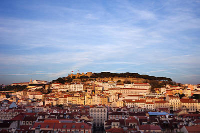 Photograph - City Of Lisbon At Sunset In Portugal by Artur Bogacki