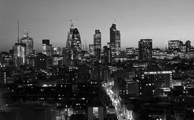London Skyline Photograph - City Of London Skyline by David French