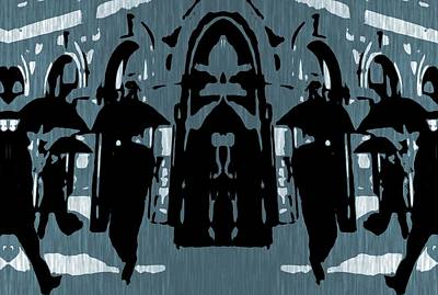 Rush Hour Digital Art - City Rain by Dan Sproul