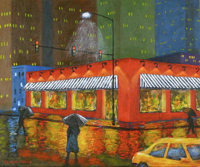 City Showers Art Print