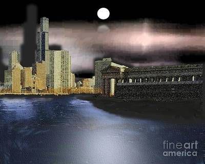 Painting - New York City Shoreline by Belinda Threeths