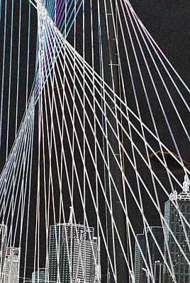 City Through The Bridge 2 Art Print