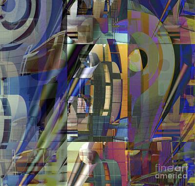 Digital Art - Cityscape 3 by Ursula Freer
