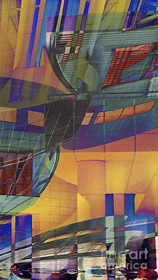 Digital Art - Cityscape 5 by Ursula Freer