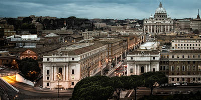 Cityscape In Rome Art Print by Celso Diniz