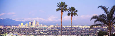 Cityscape, Los Angeles, California, Usa Art Print by Panoramic Images