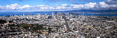 Crowd Scene Photograph - Cityscape Viewed From The Twin Peaks by Panoramic Images