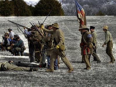 civil war confederate Troops v3 Art Print by John Straton