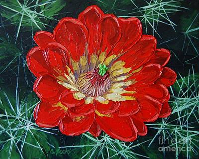 Painting - Claret Cup by Cheryl Fecht
