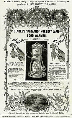 "Candle Lit Drawing - Clarke's ""pyramid"" Nursery by  Illustrated London News Ltd/Mar"