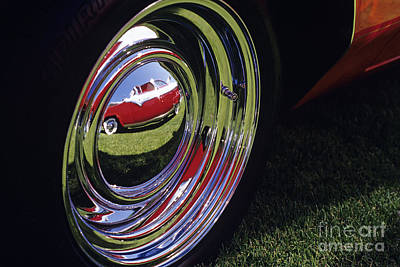 Photograph - Classic Car Show Hub Cap Reflection by Jim Corwin